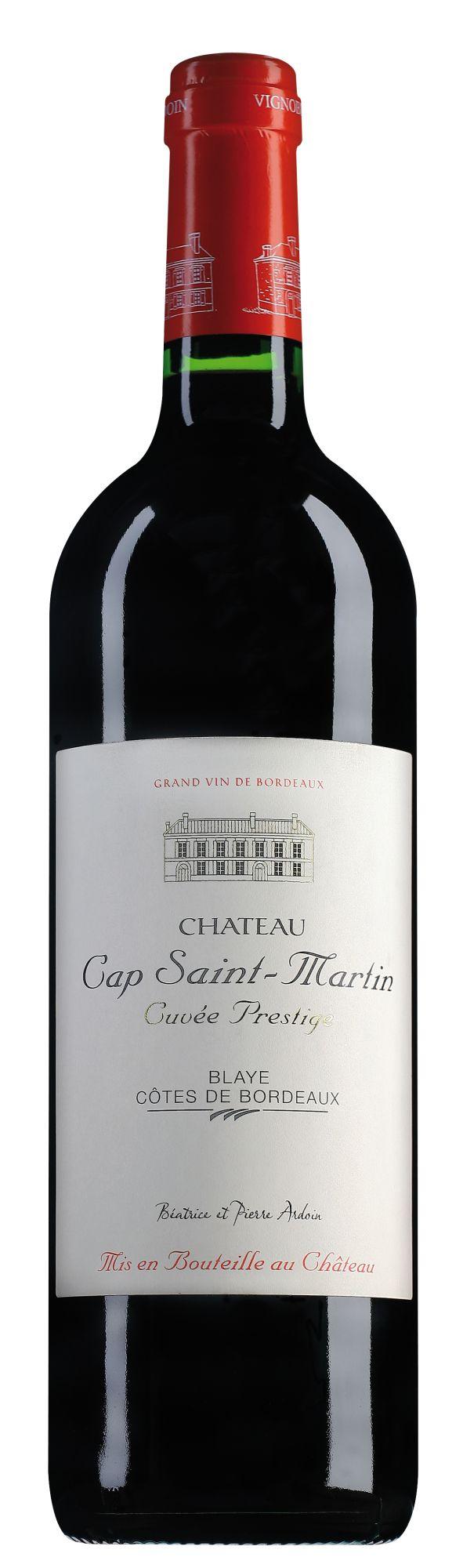 Château Cap Saint Martin Blaye Côtes de Bordeaux Cuvée Prestige in originele kist met 6 flessen