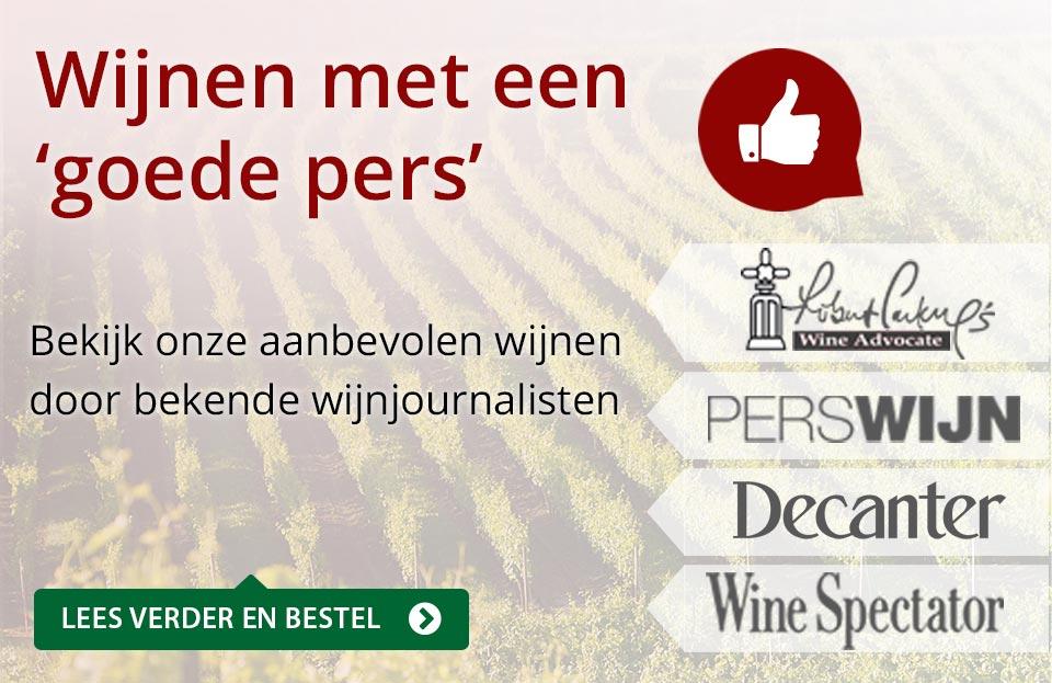 Wijnen met een goede pers - rood
