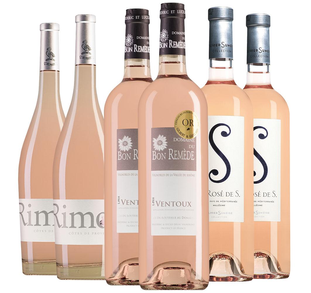 Proefpakket Zuid-Franse rosés 6 flessen (3x2 fl.)