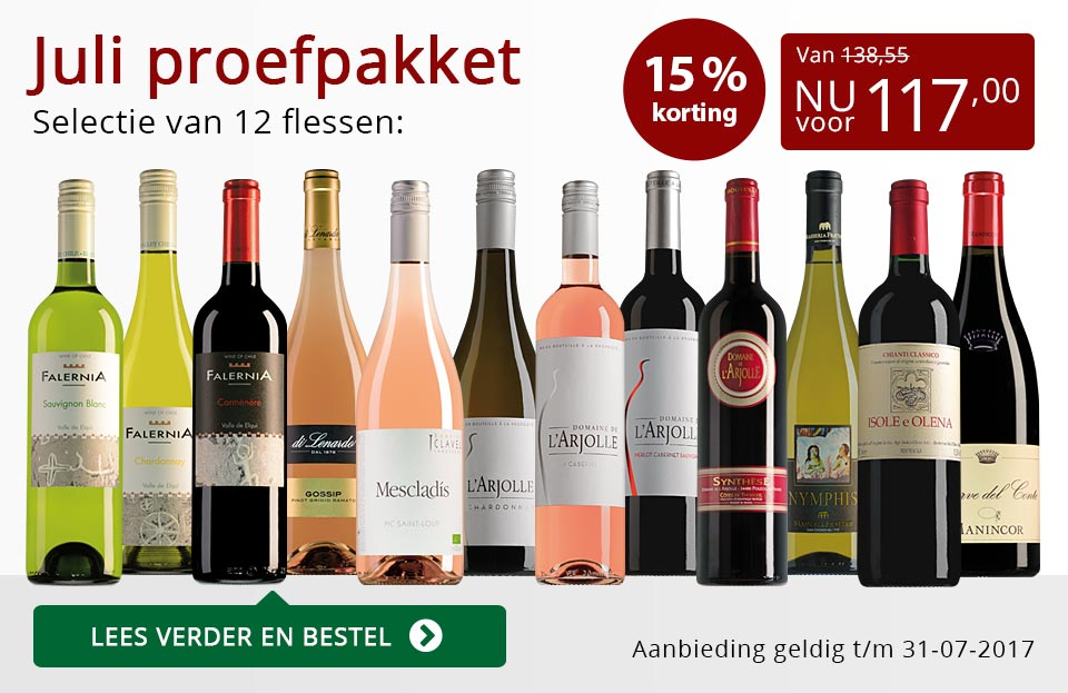 Proefpakket wijnbericht juli 2017 (117,00) - rood