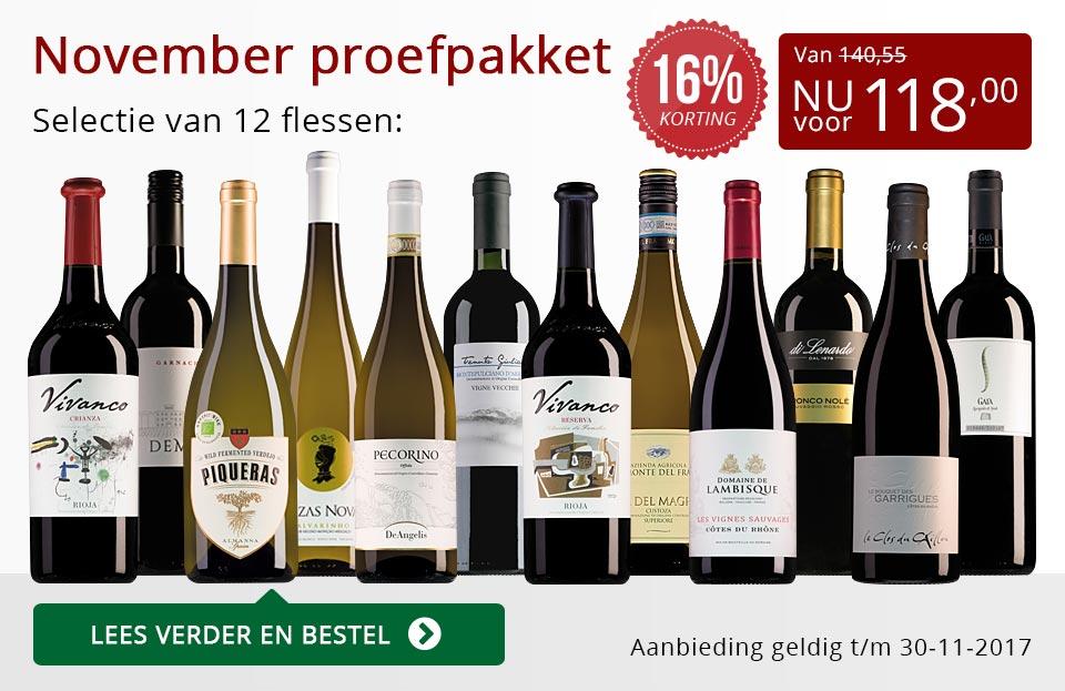 Proefpakket wijnbericht november 2017 (118,00) - rood