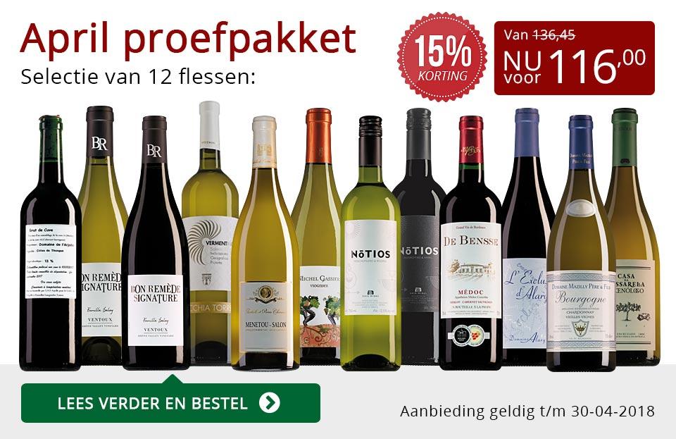 Proefpakket wijnbericht april 2018 (116,00) - rood