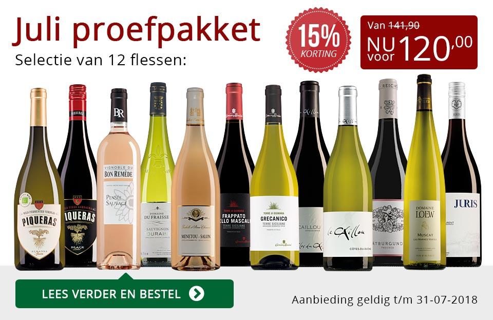 Proefpakket wijnbericht juli 2018 (120,00) - rood