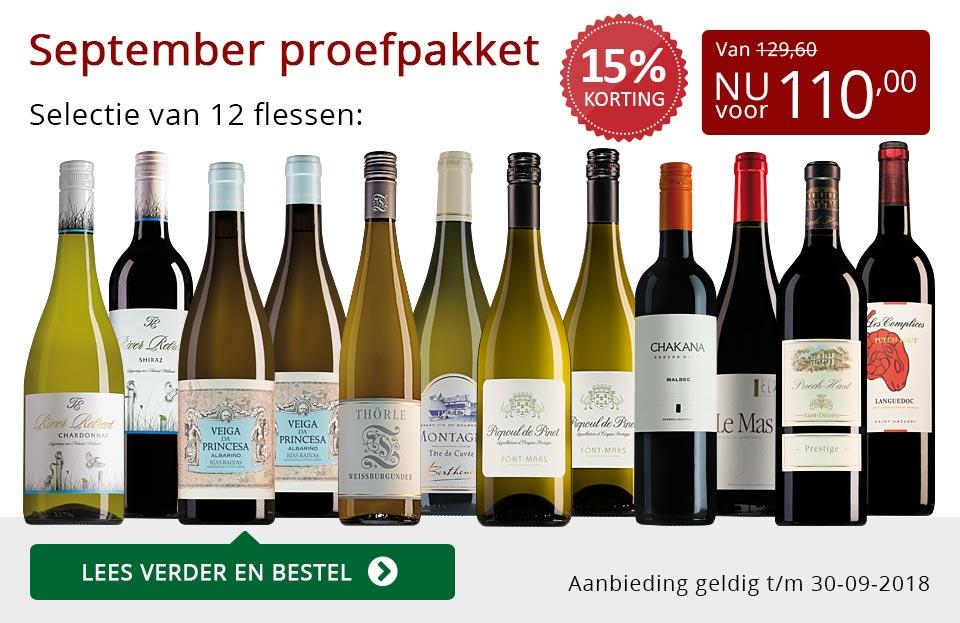 Proefpakket wijnbericht september 2018 (110,00) - rood