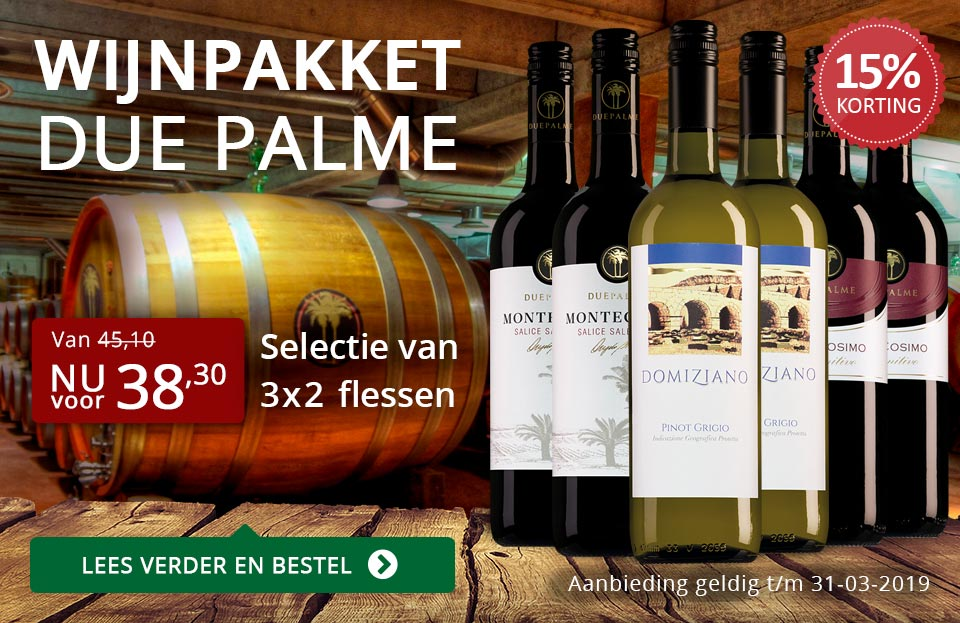 Wijnpakket Due Palme (38,30) - rood