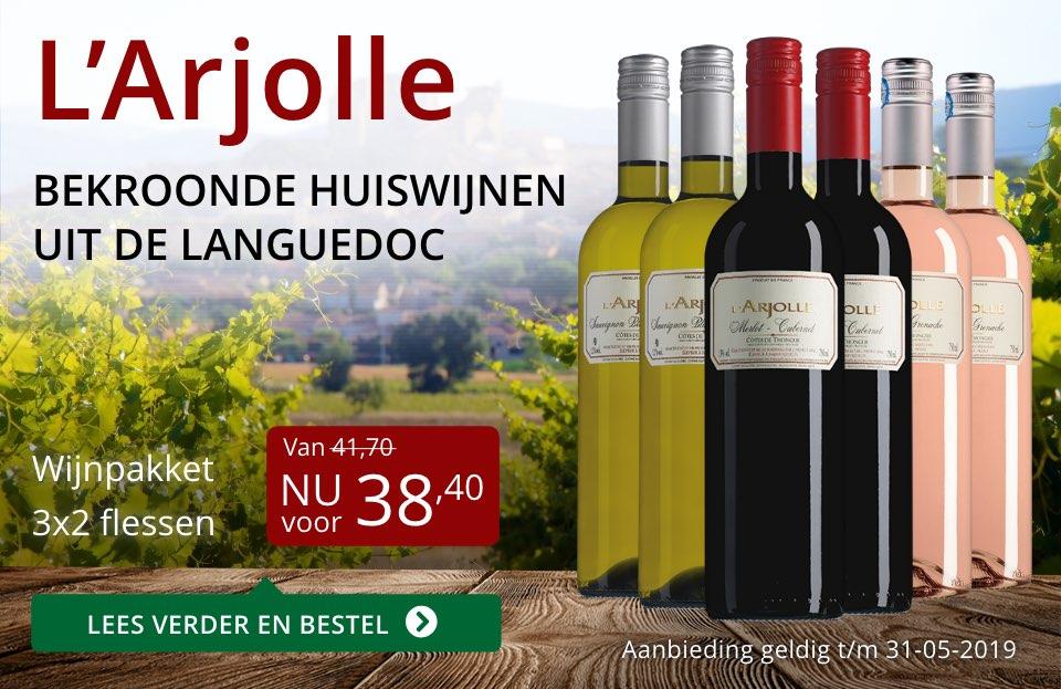 Wijnpakket L'Arjolle mei 2019 (38,40) - rood