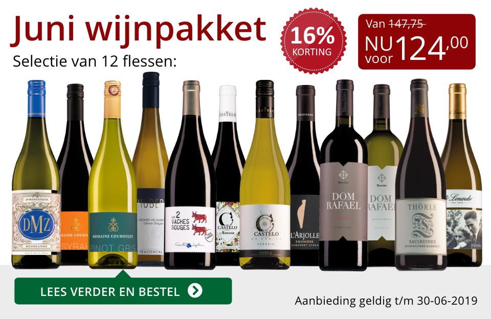 Wijnpakket wijnbericht juni 2019 (124,00) - rood