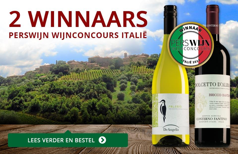2 Winnaars in het Perswijn Wijnconcours Italië - rood