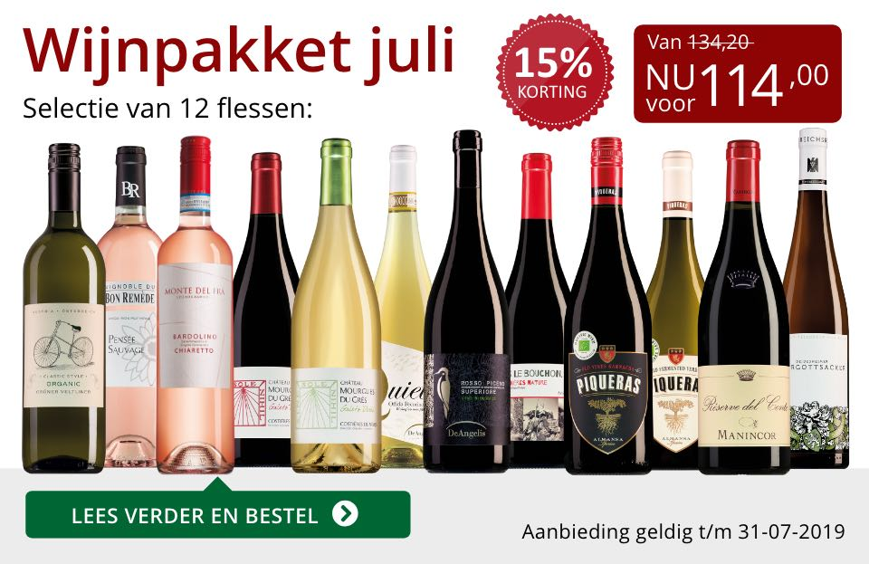 Wijnpakket wijnbericht juli 2019 (114,00)- rood