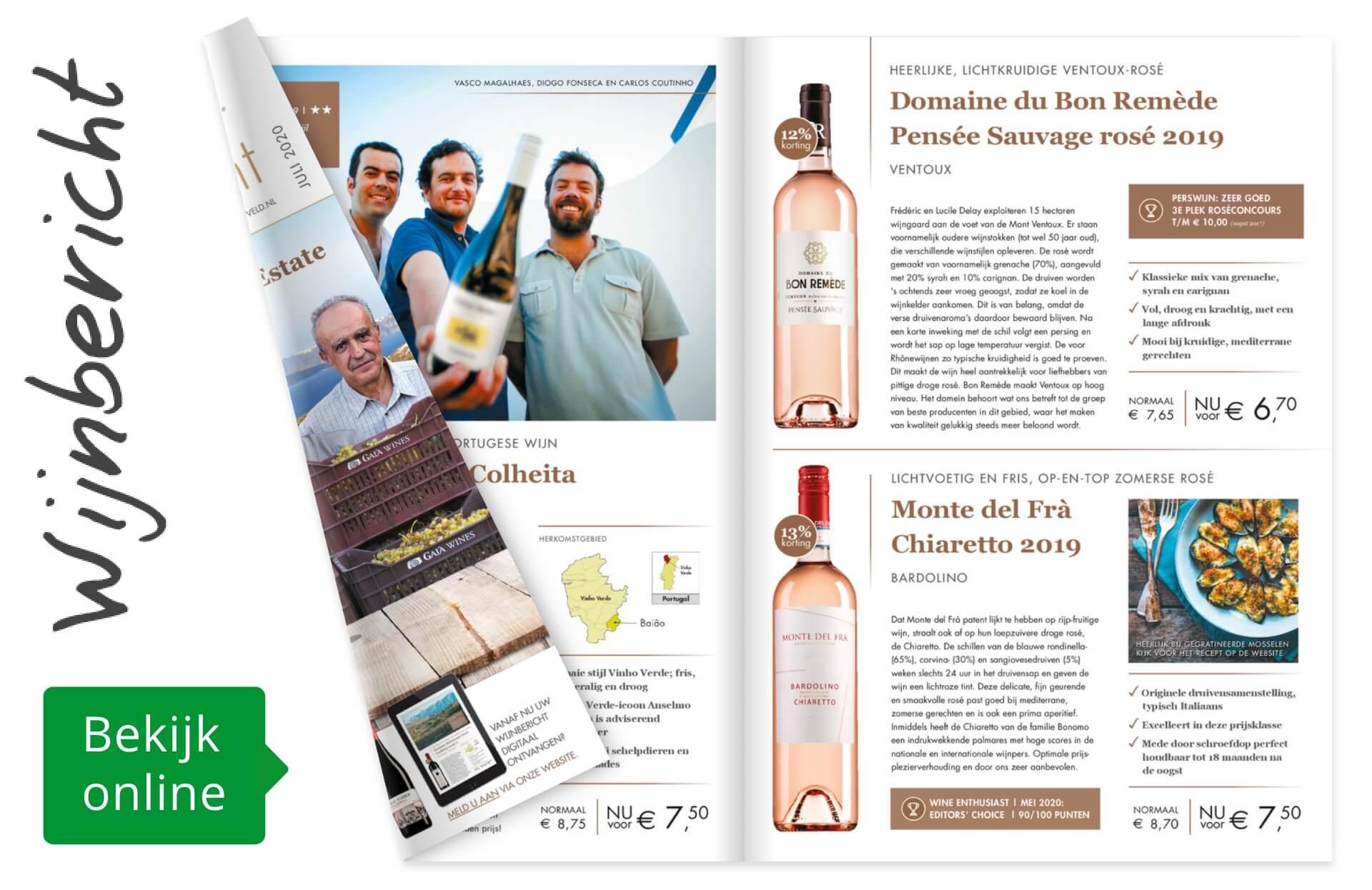 Online wijnbericht juli 2020