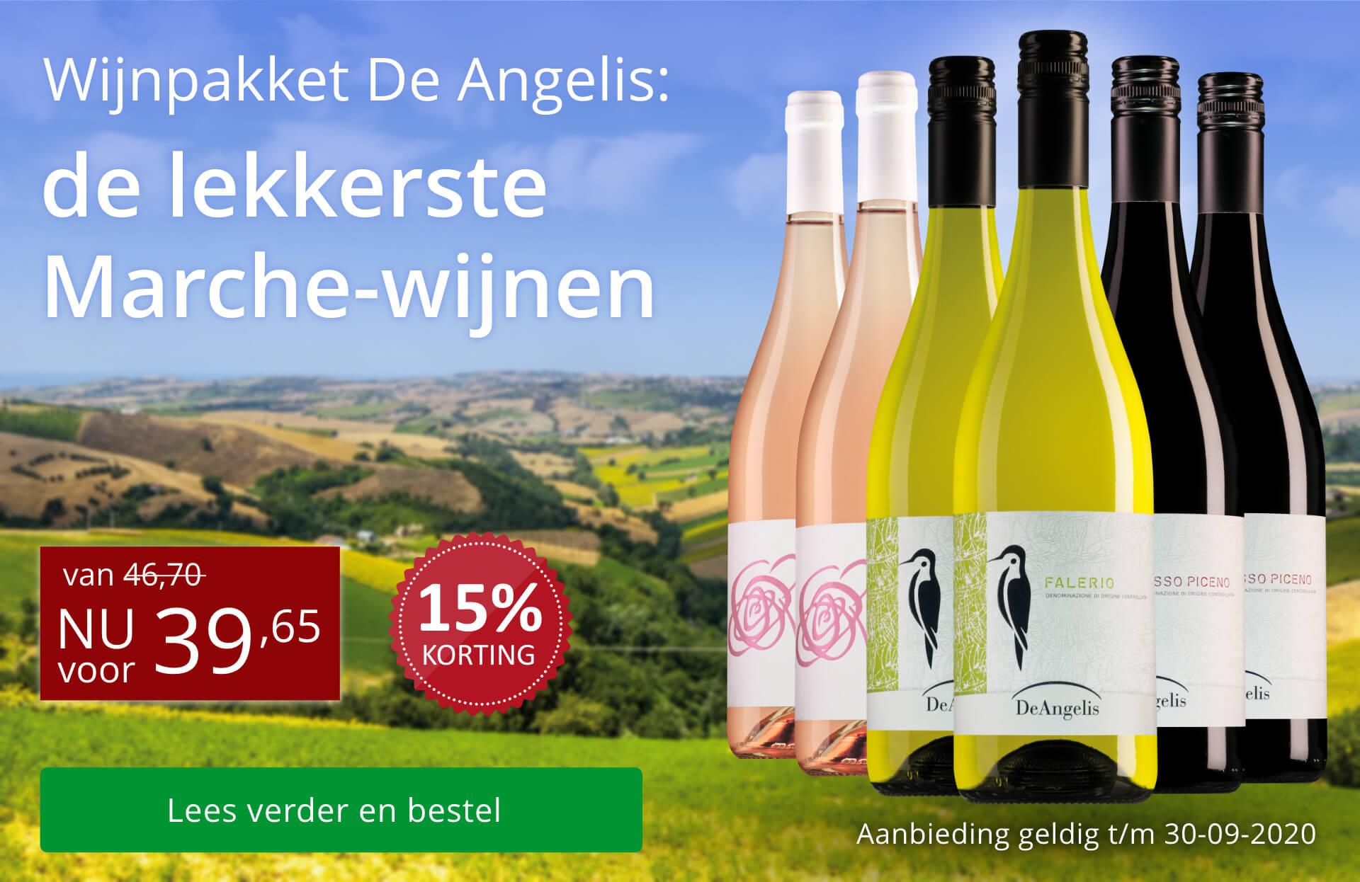 Wijnpakket De Angelis - rood