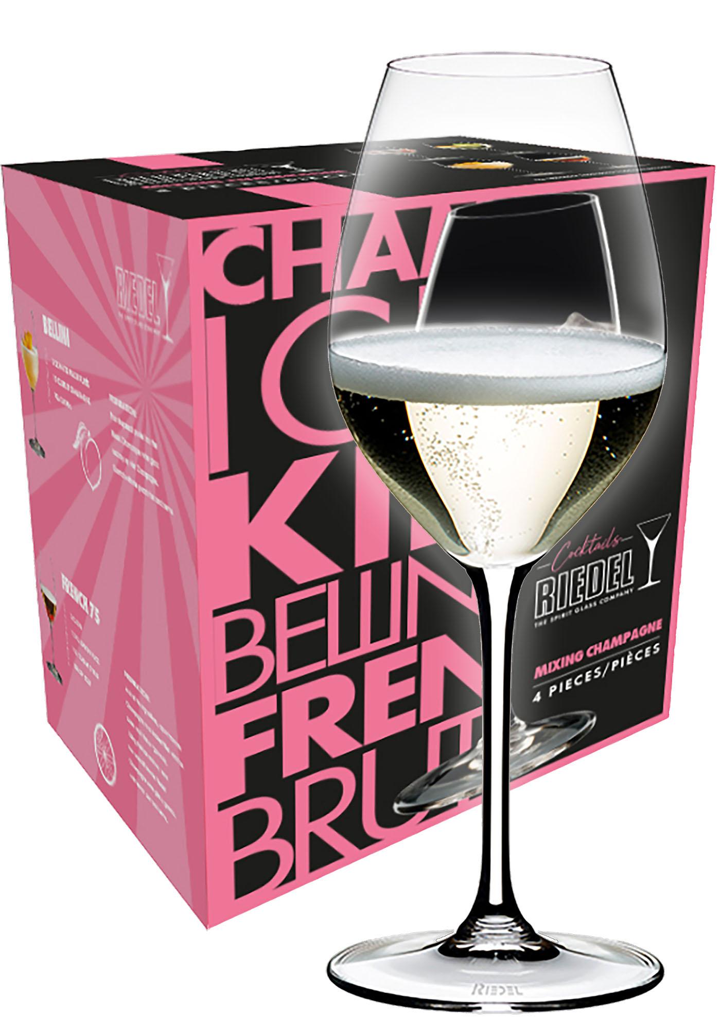 Riedel Mixing Champagne wijnglas (set van 4 voor € 34,80)