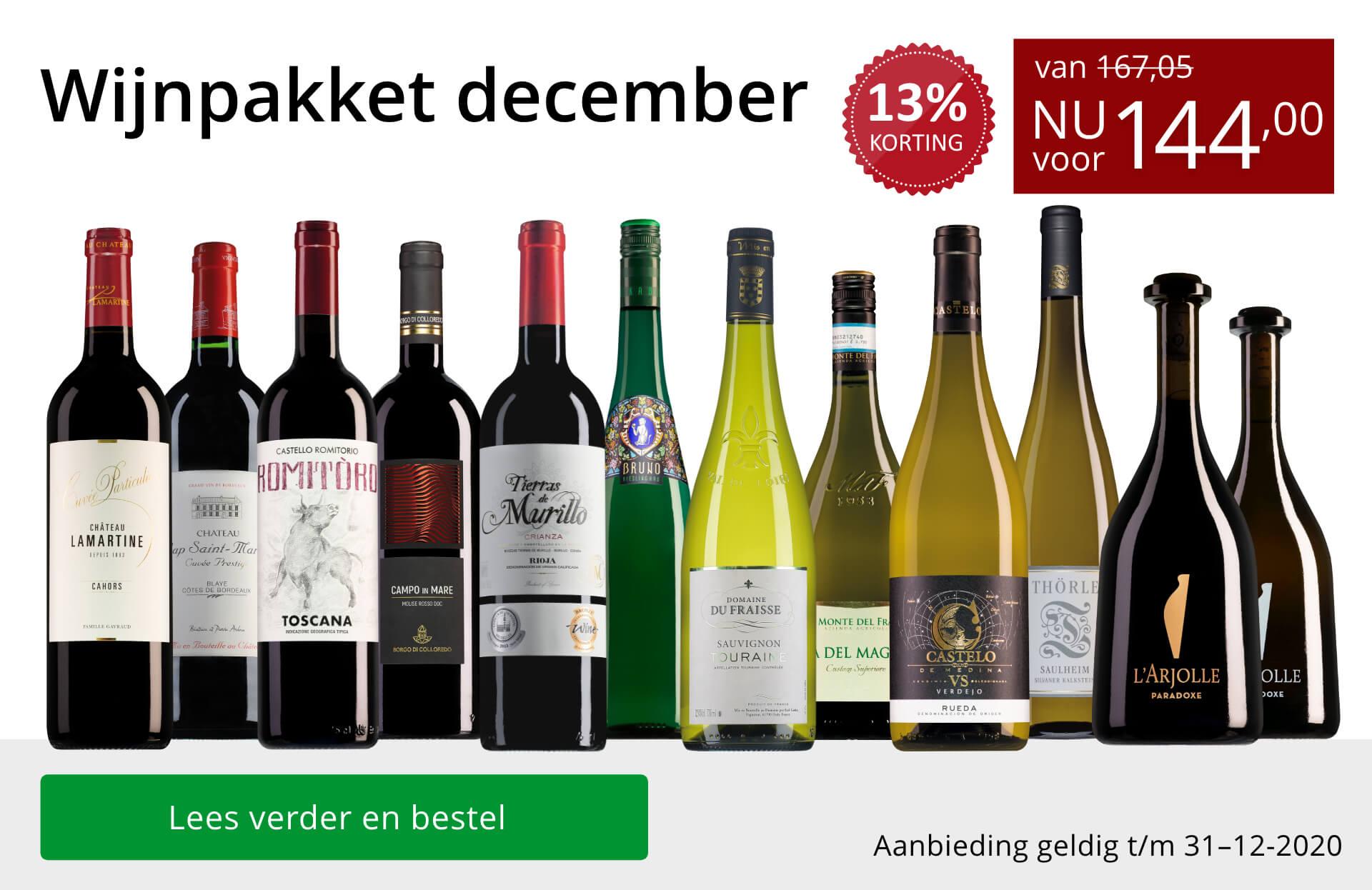 Wijnpakket wijnbericht december 2020 (144,00) - rood