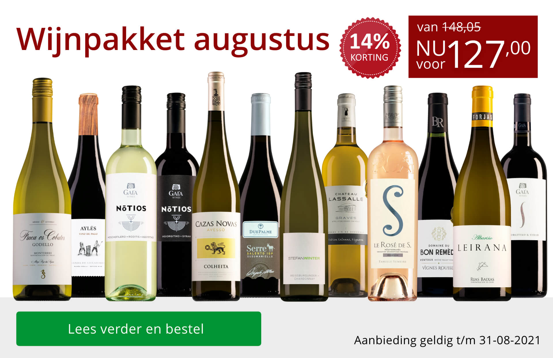 Wijnpakket wijnbericht augustus 2021 (127,00) - rood