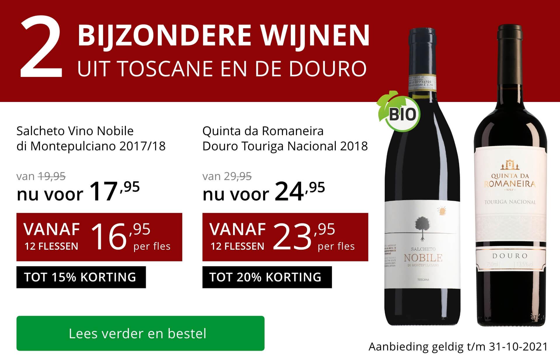 Twee bijzondere wijnen oktober 2021 - rood