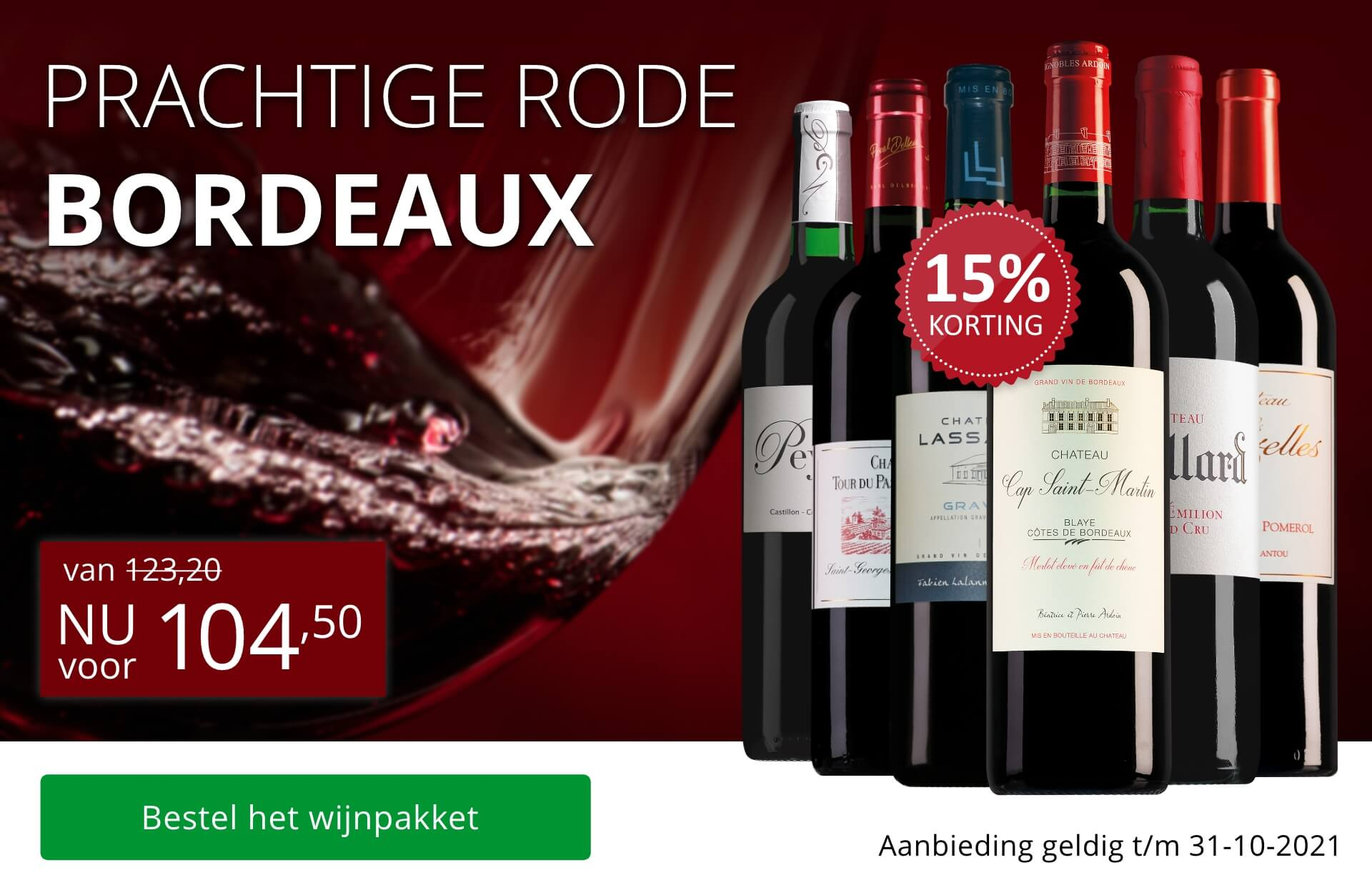 Wijnpakket rode Bordeaux